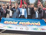 Uşak'ta halk ve esnaf festivalde buluştu