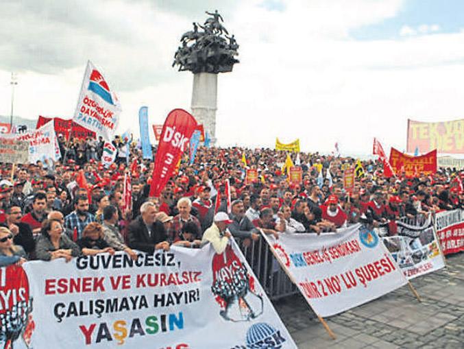 1 Mayıs kutlaması Gündoğdu Meydanı'nda