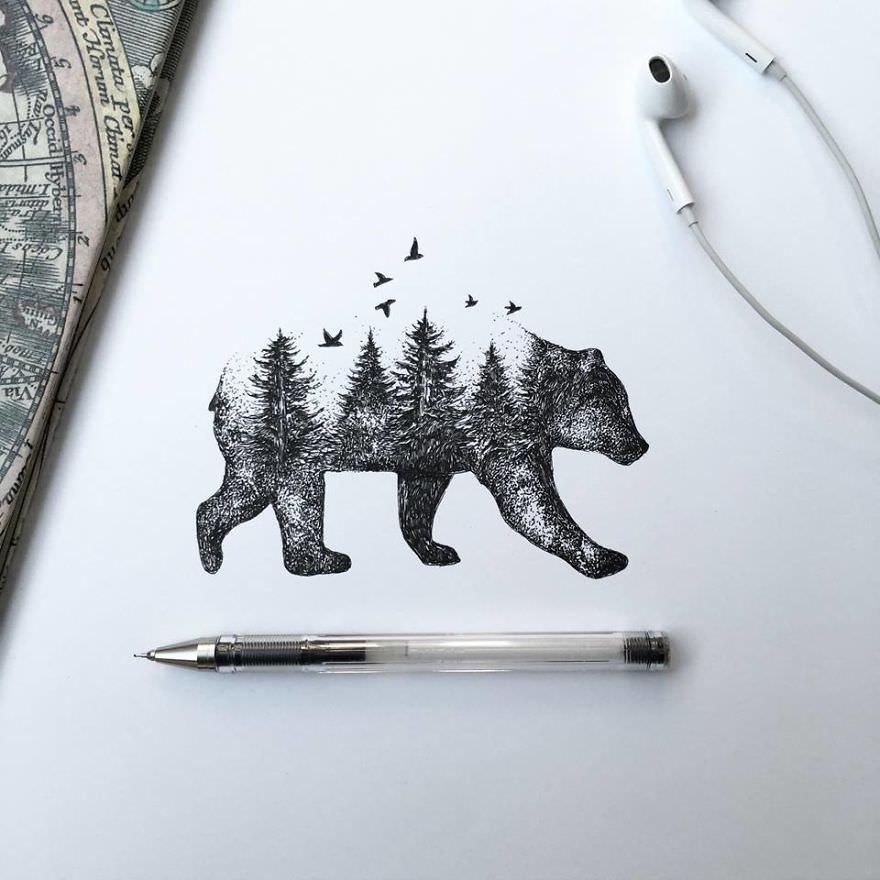 Tükenmez kalemin sanatı